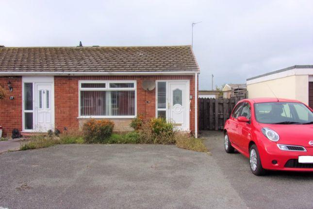 Thumbnail Semi-detached bungalow for sale in Llys Llewelyn, Towyn, Abergele