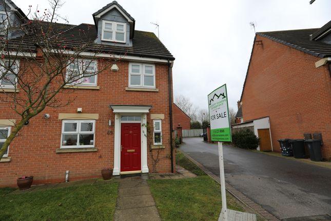 Thumbnail End terrace house for sale in Sandhills Avenue, Hamilton, Leicester