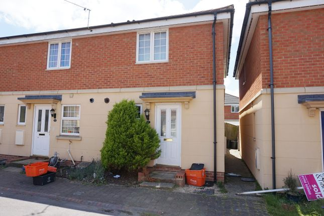 Thumbnail End terrace house for sale in Old School Court, Swindon