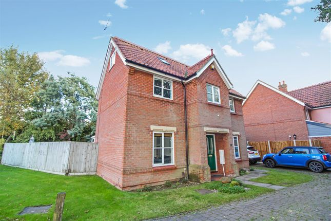 Thumbnail Detached house for sale in Stan Petersen Close, Norwich