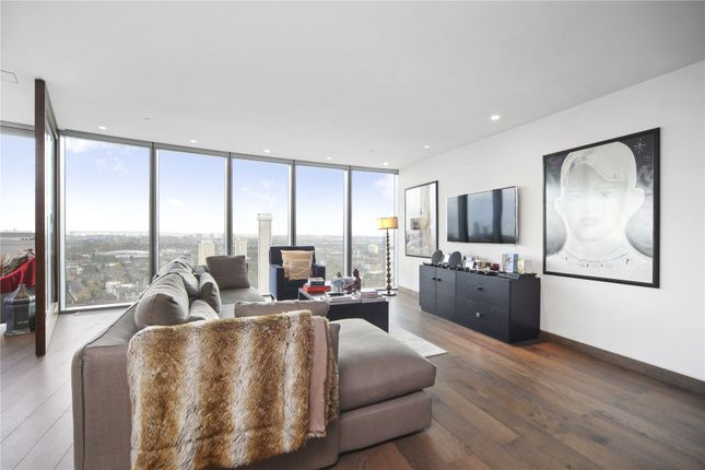Thumbnail Flat to rent in The Tower, 1 St George Wharf, London