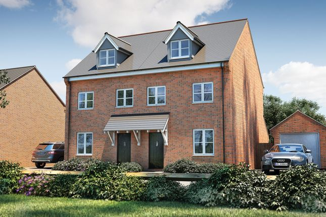 "Thumbnail Semi-detached house for sale in ""The Acton"" at Pershore Road, Evesham"