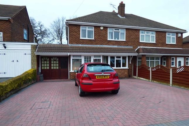 Thumbnail Semi-detached house for sale in Long Mill North, Wednesfield, Wolverhampton