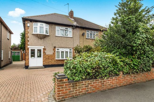 Thumbnail Semi-detached house for sale in Pettits Lane North, Rise Park, Romford