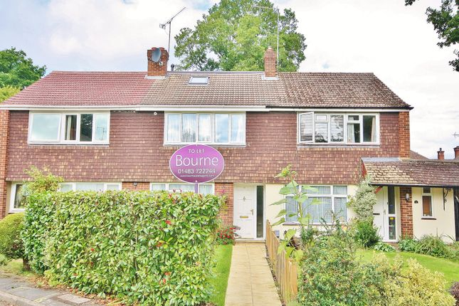 Thumbnail Terraced house to rent in Hawthorn Close, Woking, Surrey