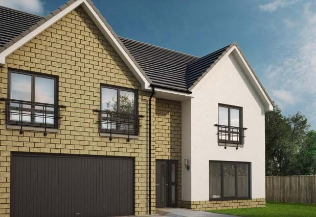 "Thumbnail Detached house for sale in ""Sienna Almondell"" at Ochiltree Drive, Mid Calder, Livingston"
