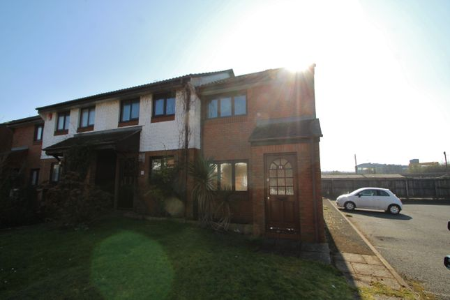 Thumbnail End terrace house for sale in Finch Close, Plymouth, Devon.