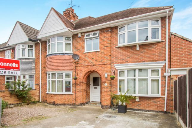 Thumbnail Semi-detached house for sale in Broadway Road, Evington, Leicester