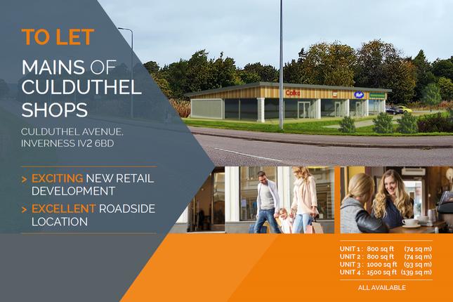 Thumbnail Retail premises to let in Mains Of Culduthel Shops, Culduthel Avenue, Inverness