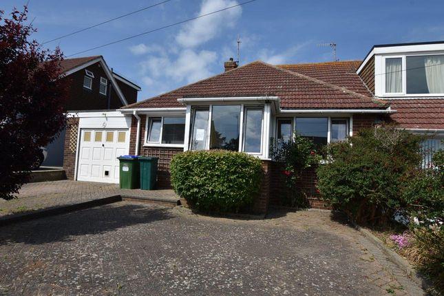 Thumbnail Semi-detached bungalow for sale in Grassmere Avenue, Telscombe Cliffs