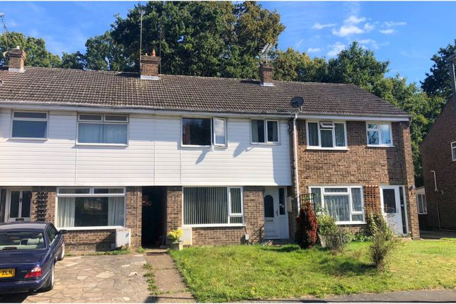 Thumbnail Terraced house for sale in Nightingale Drive, Mytchett, Camberley
