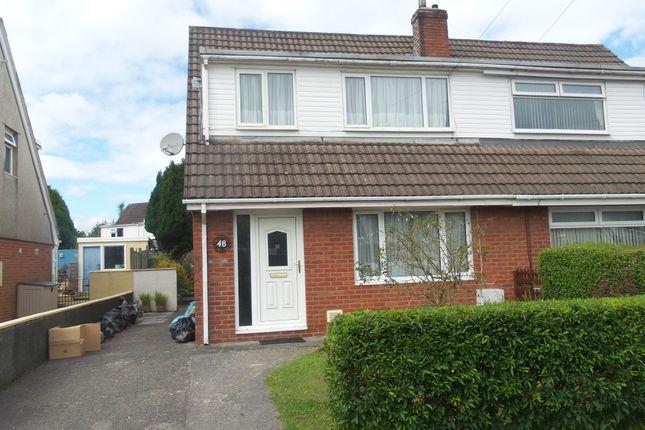 Thumbnail Semi-detached house to rent in Teglan Park, Ammanford