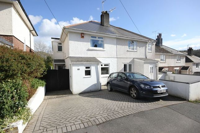 Thumbnail Semi-detached house for sale in Harwood Avenue, Tamerton Foliot, Plymouth