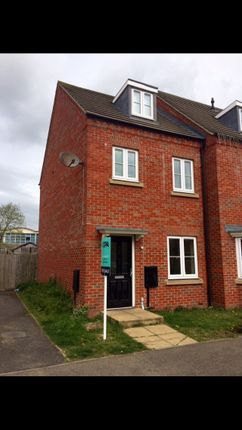 Thumbnail End terrace house for sale in Pascal Close, Corby