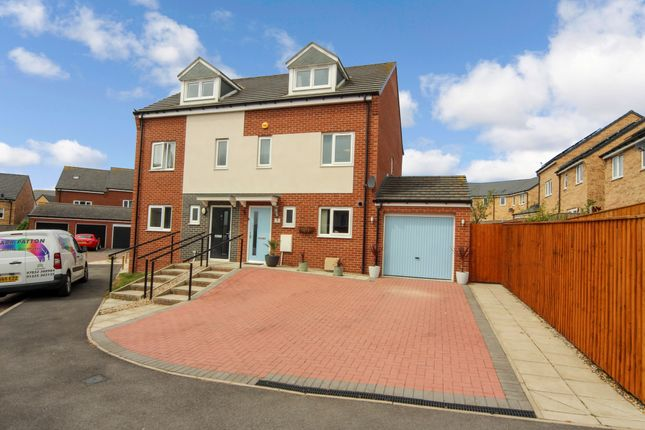 Thumbnail Semi-detached house for sale in Oldwood Close, Newton Aycliffe
