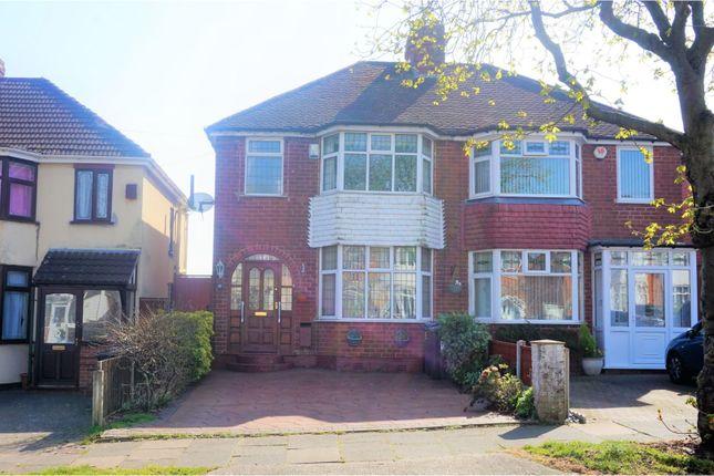 Thumbnail Semi-detached house for sale in Dowar Road, Birmingham
