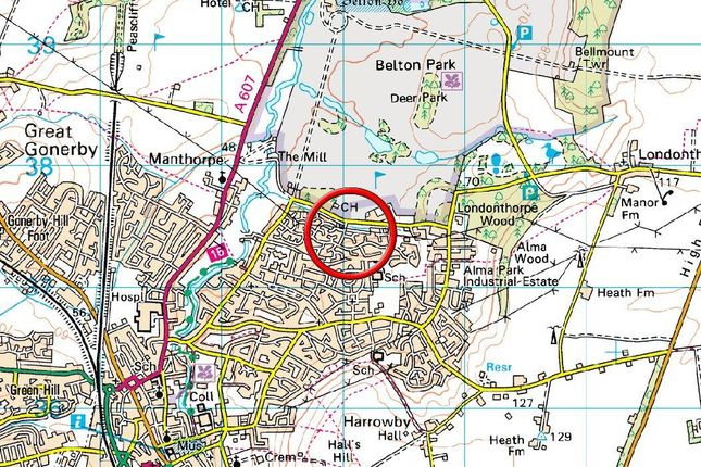 Town Map of Killarney Close, Grantham NG31