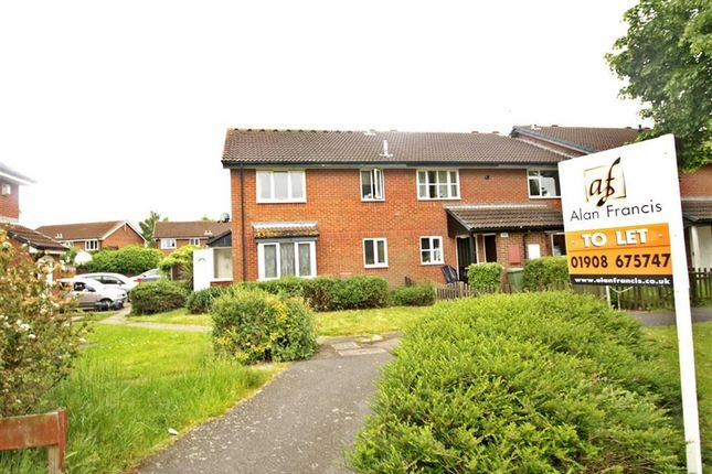 Thumbnail Terraced house to rent in Elthorne Way, Newport Pagnell, Milton Keynes