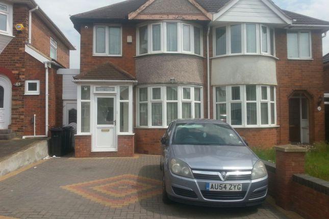 Thumbnail Semi-detached house to rent in Haycroft Avenue, Birmingham