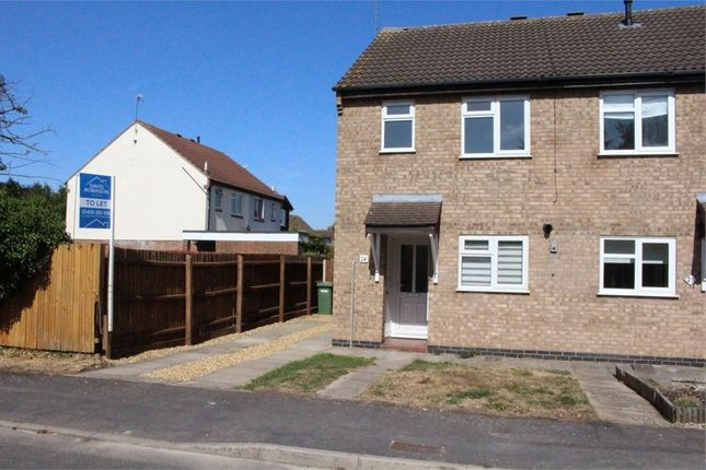 Thumbnail Semi-detached house to rent in The Pastures, Broughton Astley, Leicester