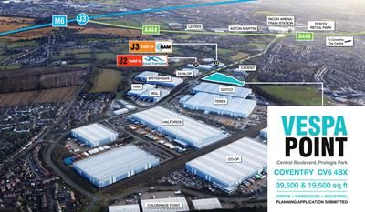 Thumbnail Light industrial to let in Unit 2 Vespa Point (Plot A2), Prologis Park, Coventry, West Midlands