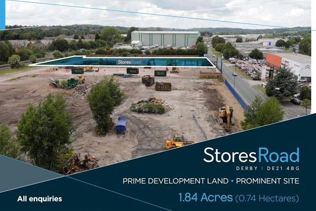 Thumbnail Land for sale in Stores Road, Derby