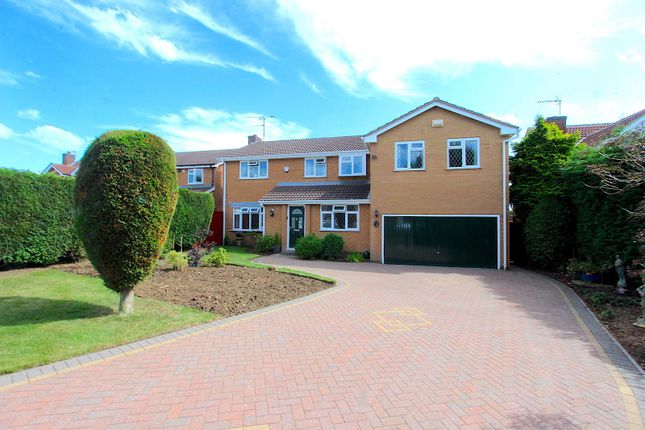 Thumbnail Detached house for sale in Stamford Drive, Groby, Leicester