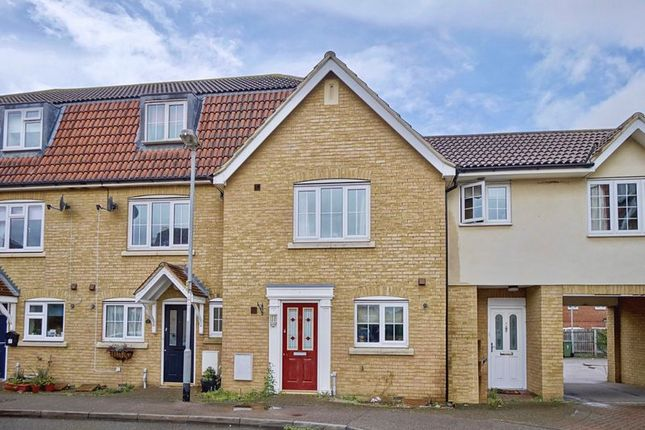 Thumbnail Terraced house for sale in Parker Close, Eynesbury, St. Neots