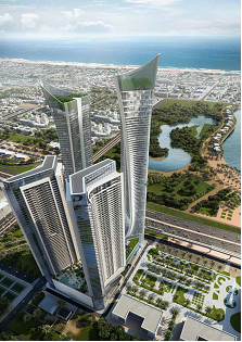 Thumbnail Apartment for sale in 2195, A Y K O N C I T Y Residential, United Arab Emirates