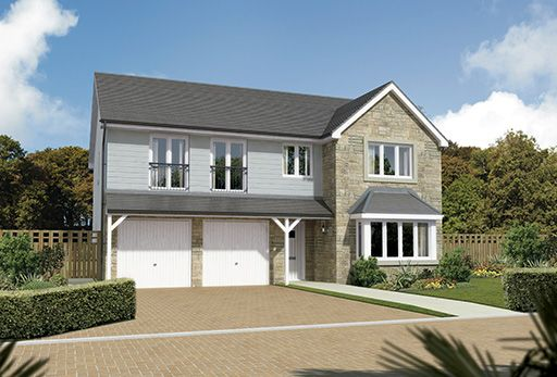 "Thumbnail Detached house for sale in ""Melton"" at East Calder, Livingston"