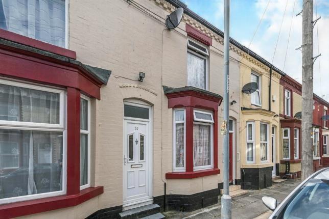 Front of Parton Street, Kensington, Liverpool, Merseyside L6