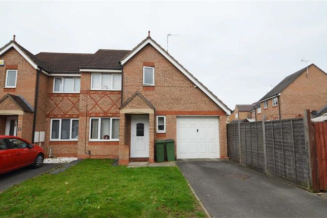 Thumbnail Semi-detached house for sale in Darien Way, Thorpe Astley, Braunstone, Leicester