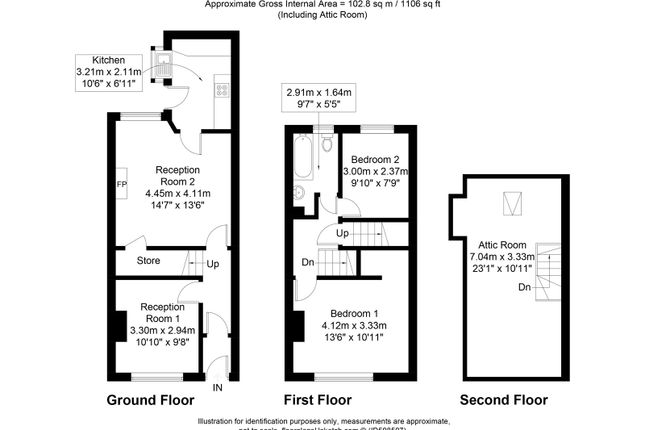Floorplan of Bergen Street, Burnley, Lancashire BB11