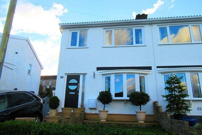 Thumbnail Semi-detached house for sale in Darren View, Maesteg, Bridgend.