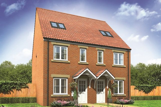 "Thumbnail Semi-detached house for sale in ""The Bickleigh"" at Gower View Road, Gorseinon, Swansea"