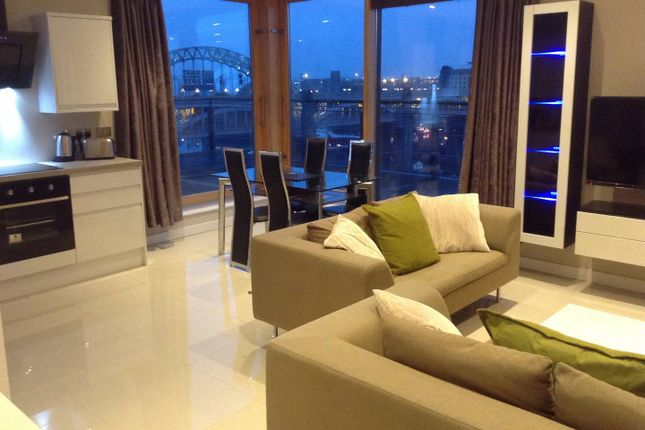 Thumbnail Flat to rent in Penthouse Apartment, Quayside Lofts, Clavering Place, Newcastle Upon Tyne