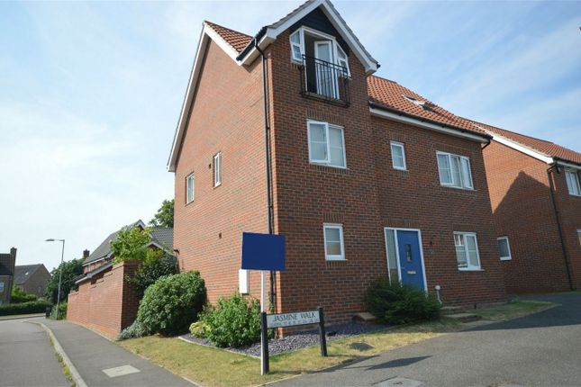 Thumbnail Detached house for sale in Jasmine Walk, Cringleford, Norwich