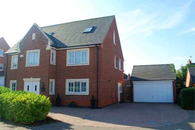 Thumbnail Detached house for sale in Park View Close, Broughton Astley, Leicester