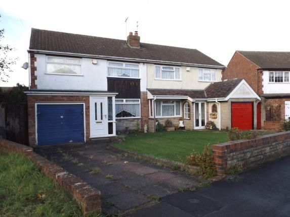 Thumbnail Semi-detached house for sale in Conway Crescent, Willenhall, West Midlands