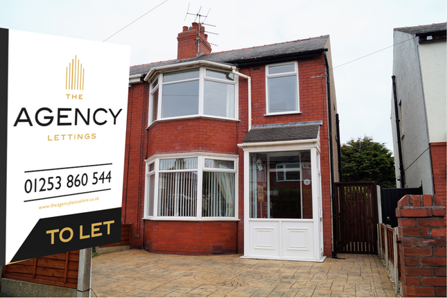 Thumbnail Semi-detached house to rent in Rookwood Avenue, Thornton Cleveleys