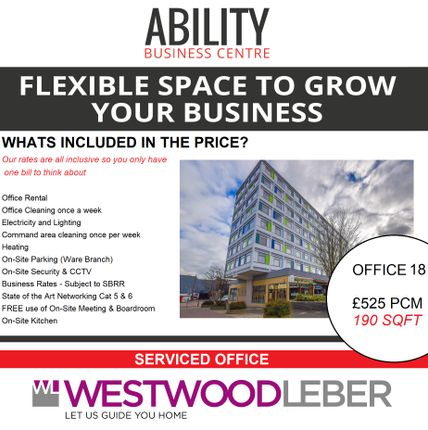 Thumbnail Office to let in West Square, Harlow