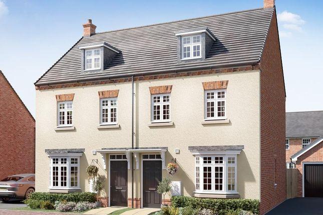 "Thumbnail Semi-detached house for sale in ""Kennett"" at Briggington, Leighton Buzzard"
