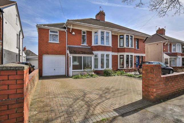 Thumbnail Semi-detached house for sale in Pantbach Road, Rhiwbina, Cardiff