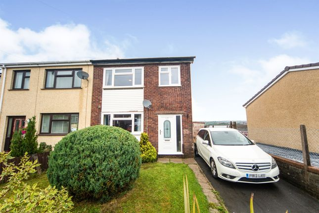 Thumbnail Semi-detached house for sale in Birch Crescent, Cefn Hengoed, Hengoed