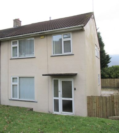 Thumbnail Semi-detached house to rent in Bronhaul, Cwmbach, Aberdare