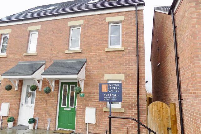 Thumbnail Semi-detached house for sale in Cilgant Y Lein, Pyle, Bridgend.