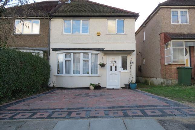 Thumbnail Semi-detached house for sale in Leggatts Wood Avenue, Watford, Hertfordshire