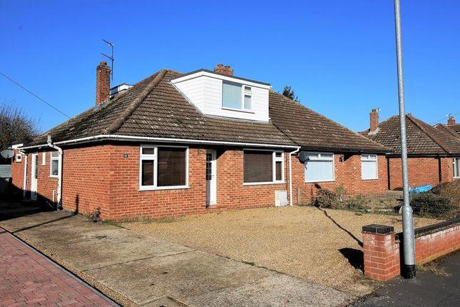 Thumbnail Semi-detached bungalow for sale in Wood View Road, Hellesdon, Norwich