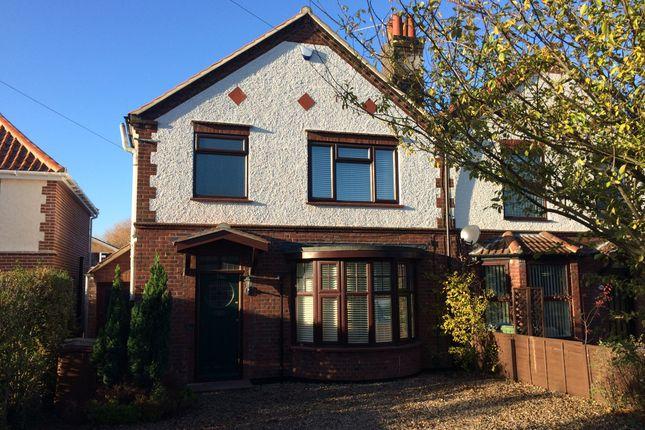 Thumbnail Semi-detached house for sale in Cromer Road, Hellesdon, Norwich