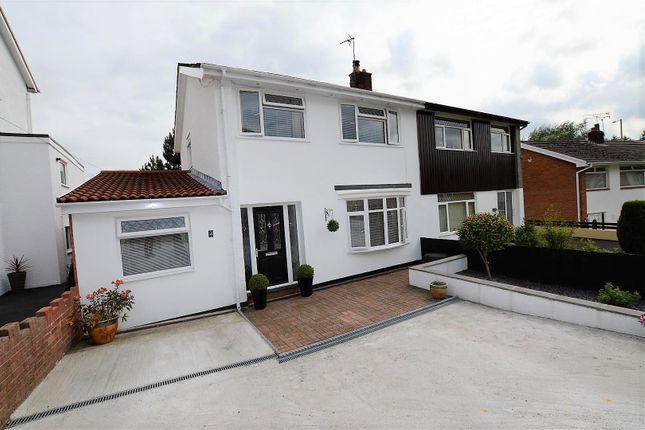 Thumbnail Semi-detached house for sale in Talbot Close, Talbot Green, Pontyclun
